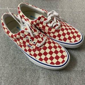 New Men's Vans Era Pro Checkerboard Red US 8